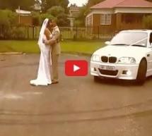 Video: Pogledajte najluđi svadbeni video! Mladenci se ljube u dimu spaljenih guma!