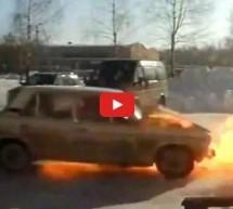 Video: Za rusku zimu najbolja je Lada u plamenu