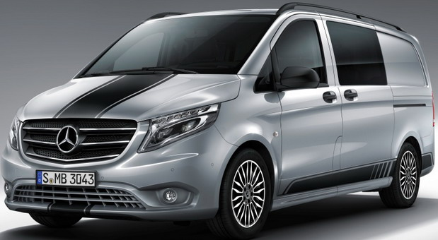Mercedes-Benz Vito in der Line SPORT.  Mercedes-Benz Vito in the SPORT Line.