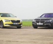 KRUŠKE I JABUKE: Usporedni test Škode Superb i… BMW-a M760Li?! (VIDEO)