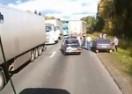 Banditi su napali ruskog kamiondžiju, ali je on pozvao kolege. Evo ko je izvukao deblji kraj (VIDEO)