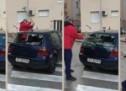 U Splitu macolom demolirao VW Golf koji je parkiran na zebri! (VIDEO)