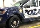 Šleperom prošao kroz crveno i pomeo policijski SUV (VIDEO)